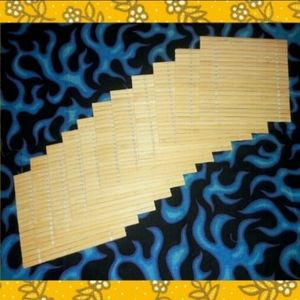 Unbranded 11 Piece Square Bamboo Coasters